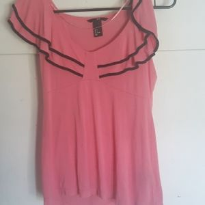 H&M pink ruffled Blouse Juniors Size S